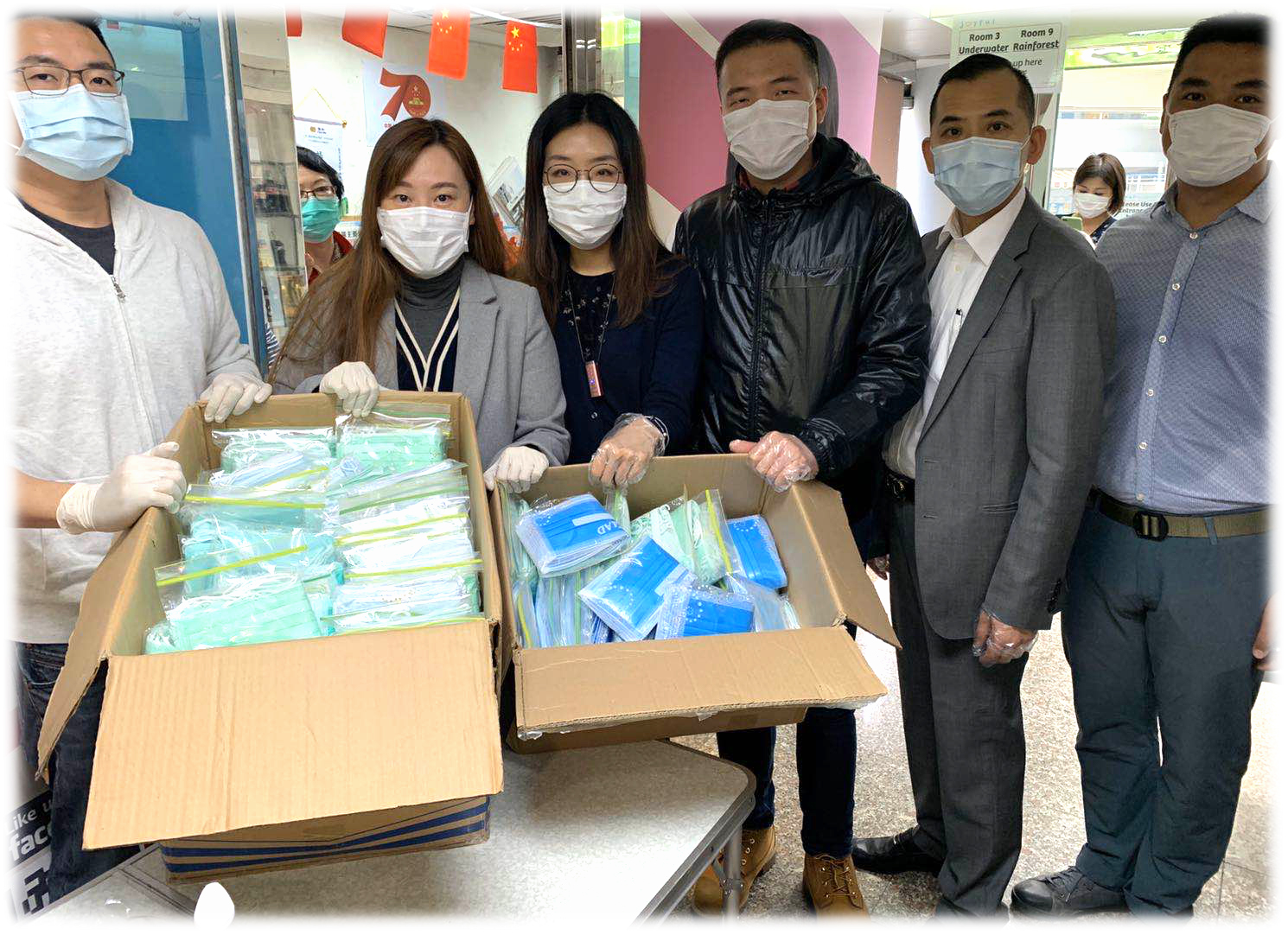 Amber Hill Holdings Donates 5,000 Protective Masks to the Elders